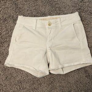American Eagle White Super Stretch X Shorts